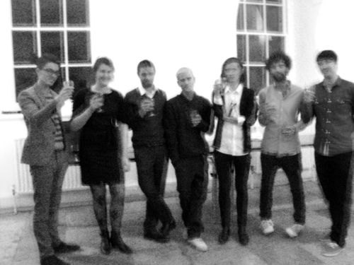The original TIME/IMAGE team at the Somerset House launch, December 2010. Left to right: Jonny Mundey (New Deal of the Mind), Sarah Cole (co-founder), Sam Milsom (co-founder), Tom Robinson, Harry Meadley, John Crook, Adam Field